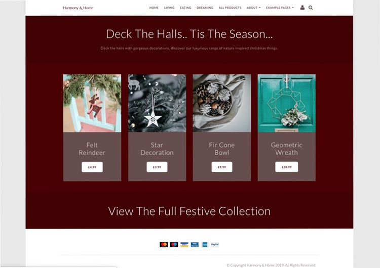 Seasonal Website Content To Be Updated