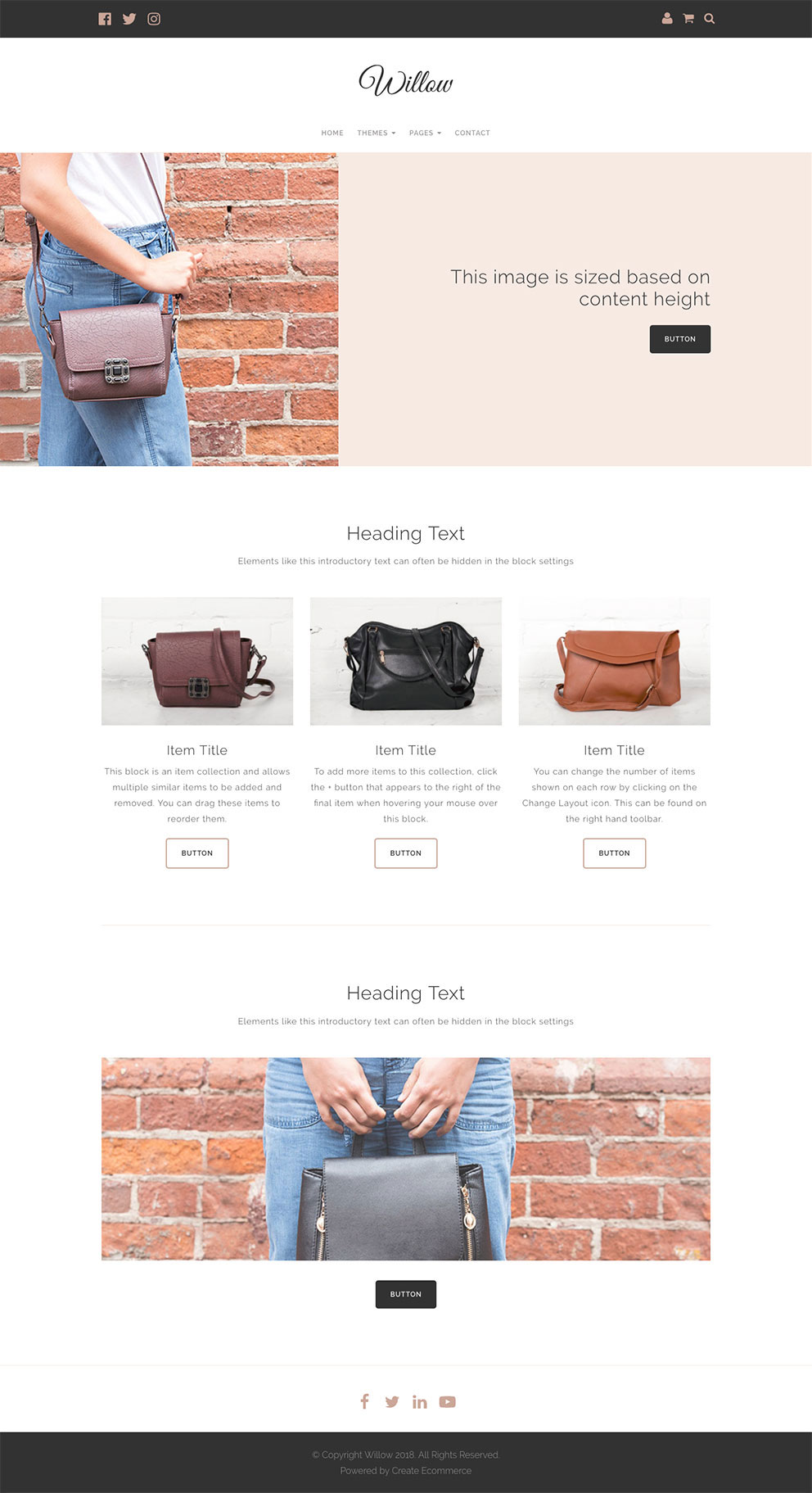 Willow website template preview