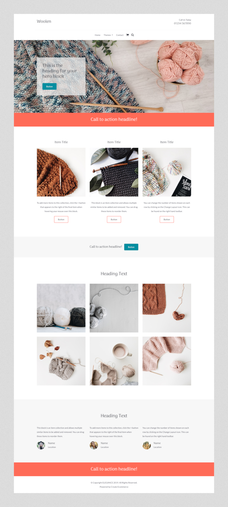 Woolen Craft Website Template