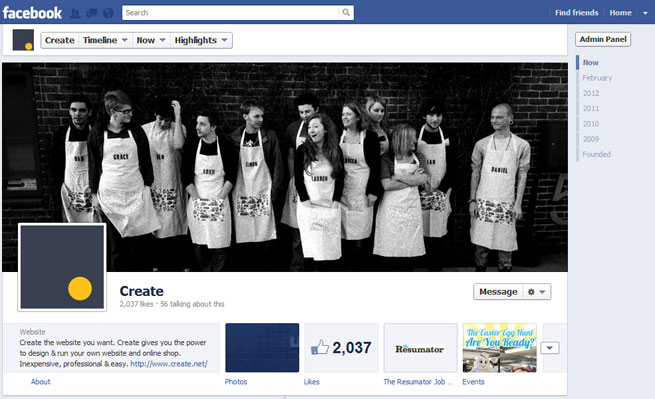 Create Facebook Shop timeline screenshot